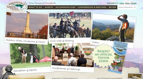The Greene County Tennessee tourism homepage helps visitors experience the county's scenic qualities and see what it has to offer.