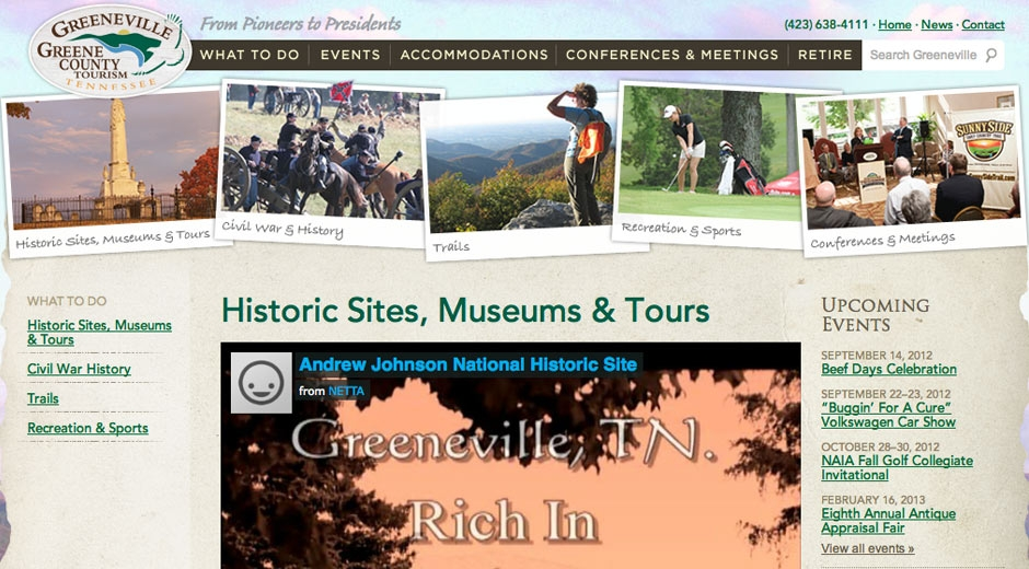 Video helps give visitors an interactive visit and calls attention to what makes Greene County unique.