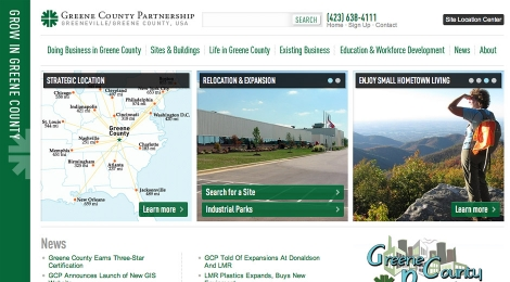 Greene County Partnership Economic Development homepage