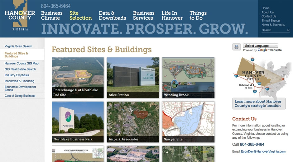 Featured sites & buildings