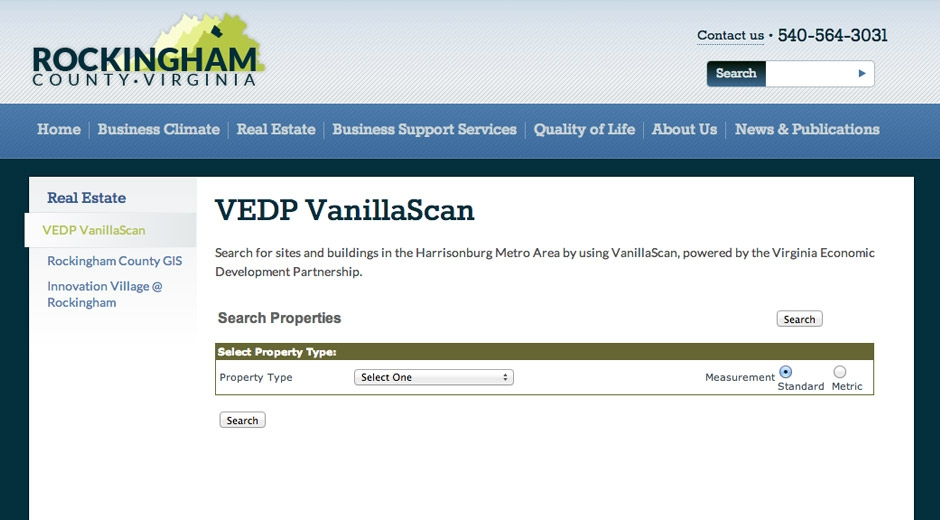 Visitors have access to a complete database of sites and buildings through Virginia's VanillaScan database.