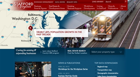 Stafford County Economic Development homepage