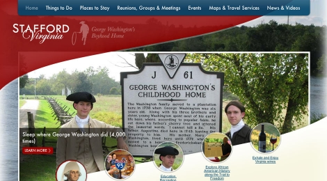 The Stafford County tourism homepage captures what to do and see in Stafford County, Virginia, George Washington's Boyhood Home.