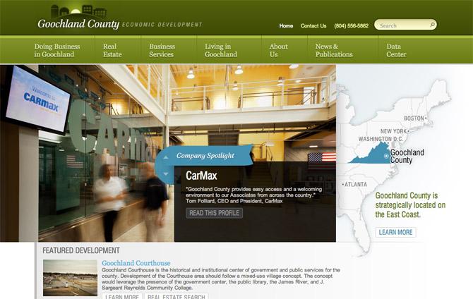 Goochland County Economic Development website homepage
