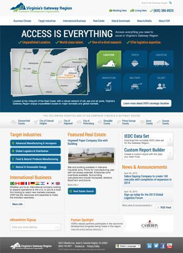 Virginia's Gateway Region homepage
