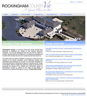 Old Rockingham County economic development website
